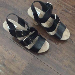 Heeled clogs sandals